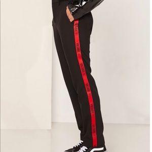 Zadig & Voltaire Navy/Orange Logo Tape Pants